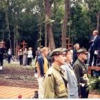 Na otwarciu cmentarza w Miednoje