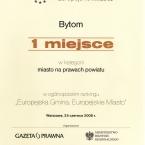 Europejska Gmina. Europejskie Miasto. Ogólnopolski ranking 2008