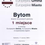 Europejska Gmina. Europejskie Miasto. Śląsk 2009